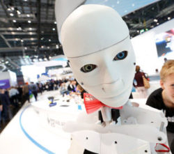 Photo: Humanoid roboter at K 2019